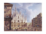 Italy  Milan  Piazza Duomo  1835
