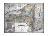 Map of the State of New York  1850