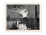 Fire at Blackfriars Bridge on New Year's Eve  London  1870  UK