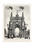 Belgium: the Memorial Arch of Triumph at Brussels  1880 1881