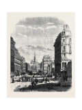 The Boulevard De Sebastopol Paris from a Drawing by Felix Thorigny