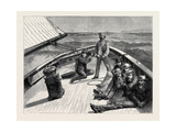 The Anglo-American Yacht-Race  on Board the Cambria  1870