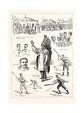 The Canadian Game of La Crosse  Played at Hurlingham  1883