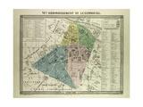 Map of the 6th Arrondissement Du Luxembourg Paris France