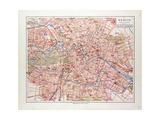 Map of Berlin Germany 1899