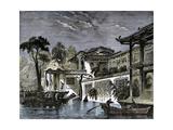 Honan Canal Canton China 1858