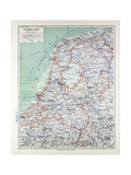 Map of the Netherlands 1899