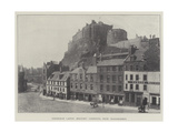 Edinburgh Castle (Military Garrison)  from Grassmarket