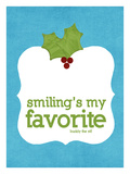 Smiling's my Favorite Giclée par Cheryl Overton