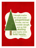 Gingerbread Houses - Red
