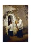 Viaticum  Painting by Alexis-Marie-Louis Douillard (1835-1905)