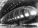 World's Largest Dirigible Near Completion  Published 1930S