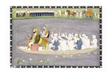 Maharaja Gulab Singh on Lake Wular in Kashmir  C1840