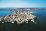 Aerial View of Siracusa (Ortygia Island)  Sicily  Italy