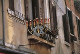 Low Angle View of a Jewish Symbol in a Ghetto  Venice  Veneto  Italy
