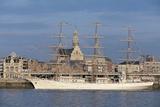 Sailing Ship in a River  Schelde River  Antwerp  Flanders  Belgium