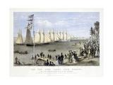 The New York Yacht Club Regatta  Pub Currier and Ives  1869