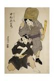 Close-Up of Two Kabuki Actors Performing