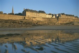 Reflection of a Town in Water  St Malo  France
