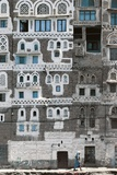 Detail of Building in Sana'A (Unesco World Heritage List  1986)  Yemen