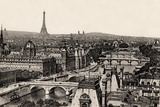 View of the 8 Bridges  Paris  1890