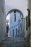 Narrow Alley with Archway  Old Town of Albufeira  Portugal