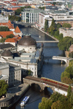 Aerial View of River Spree from Tv Tower  Berlin  Germany