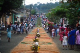 Flower-Covered Float  Holy Week Procession  Nahuizalco  El Salvador