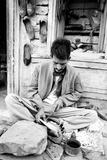 Cobbler Making Shoes  Jaisalmer  Rajasthan  India  1984