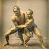 Sumo Wrestlers  C1880