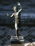 Statue of a Dancing Faun  Bronze  House of the Faun  Pompeii