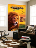 Big Buck Safari Lion Cabinet Art with Logo