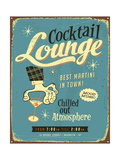 Vintage Metal Sign - Cocktail Lounge - Jpg Version