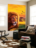 Big Buck Safari Lion Cabinet Art