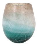Luna Blue Frosted Short Vase