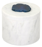 Verena Marble Box with Agate Stone