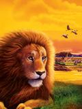Big Buck Safari Lion Cabinet Art