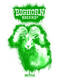 Big Horn Sheep Spray Paint Green