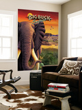 Big Buck Safari Elephant Cabinet Art  with Logo