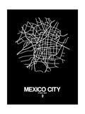 Mexico City Street Map Black