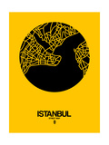 Istanbul Street Map Yellow