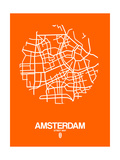 Amsterdam Street Map Orange