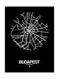 Budapest Street Map Black