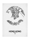 Hong Kong Street Map White