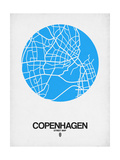 Copenhagen Street Map Blue