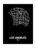 Los Angeles Street Map Black