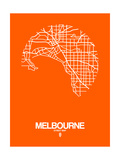 Melbourne Street Map Orange