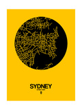 Sydney Street Map Yellow