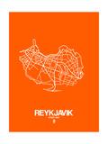 Reykjavik Street Map Orange