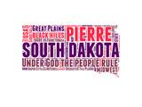 South Dakota Word Cloud Map